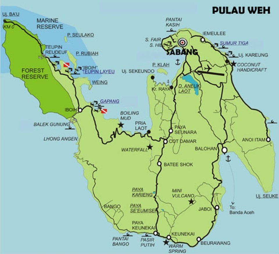 map pulau weh