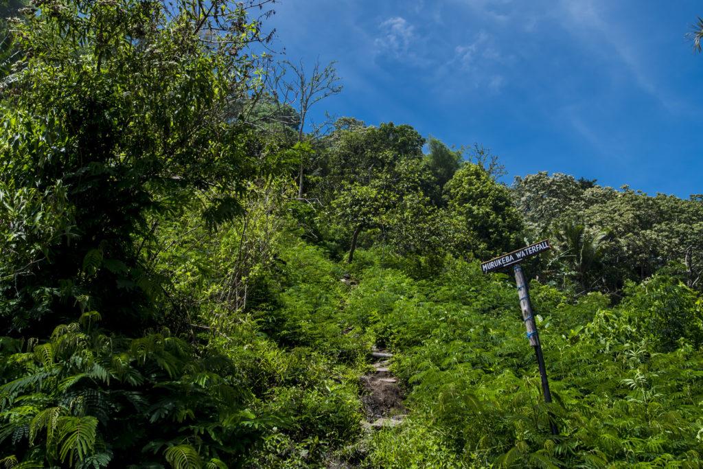 weg naar Murukeba waterval in Moni